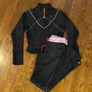 Nike Navy & Lavender Jacket Pant Set